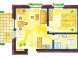 Grundriss der Dachgeschosswohnungen