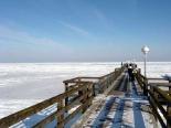 Winter an der Seebrücke von Koserow