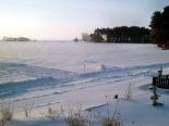Winter über den Wiesen des Achterwassers in Kölpinsee