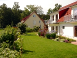 Garten der Ferienwohnungen auf Usedom