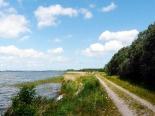 Radweg auf Deich von Usedom