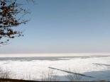 Verschneite Ostsee auf Usedom